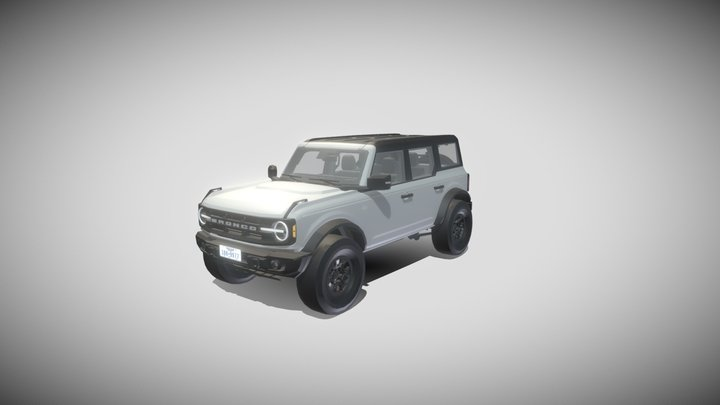 2021 Ford Bronco Wildtrak 3D Model