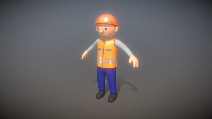 Construction Worker (High-Poly Version) 3D Model