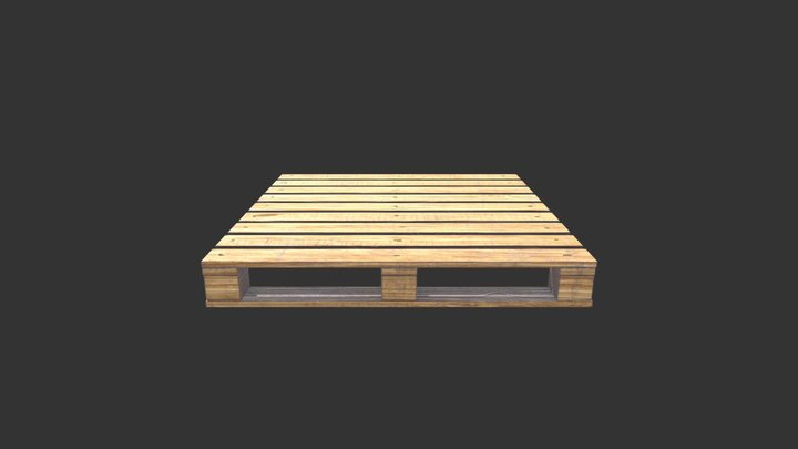 wooden pallet low-poly for game asset 3D Model