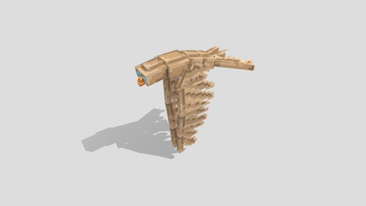 Animated Flying Hawk-Owl [Blockbench] 3D Model