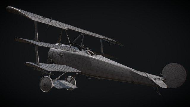Fokker DR1 Triplane 3D Model