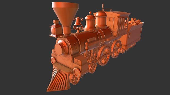 Steam Engine Nurbs Model 3D Model