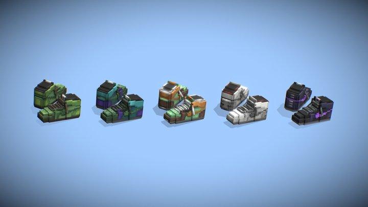 Minecraft shoes! Multiple skin! 3D Model