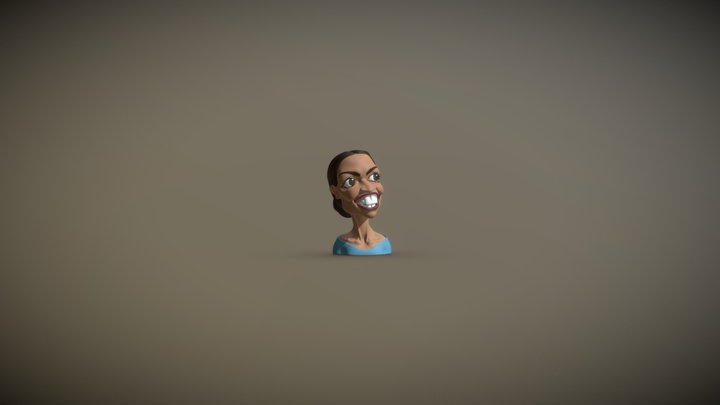 Alexandria Ocasio-Cortez Caricature 3D Model