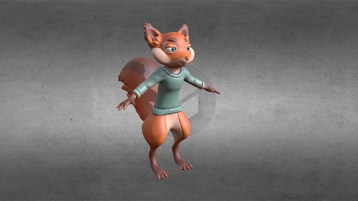 The Art Squirrel Mascot 2021 3D Model