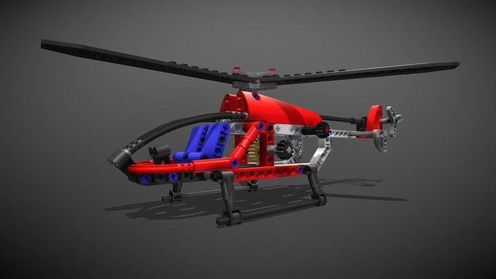 Lego Technic Helicopter 3D Model