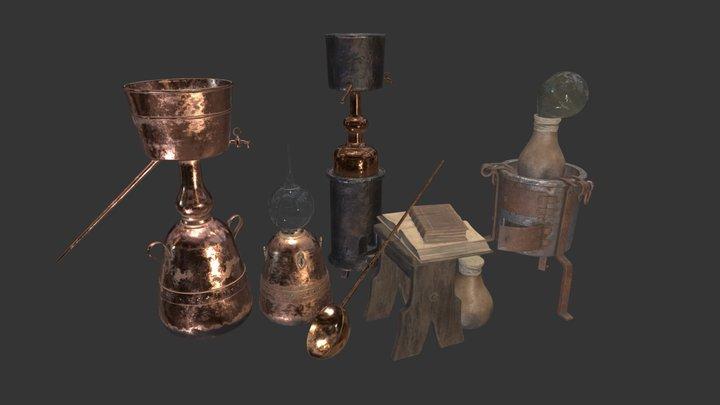 Alchemical Set 3D Model