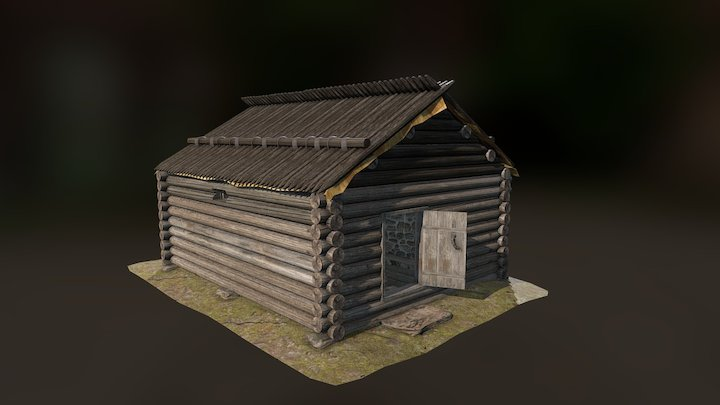 late medieval smoke cabin 3D Model