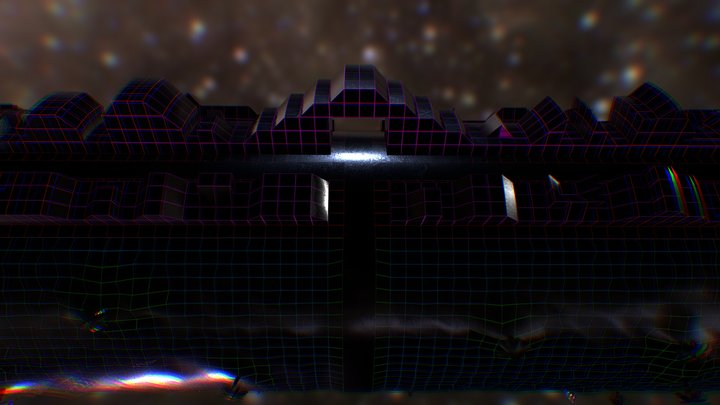 Retrowave/Outrun Worlds 3D Model