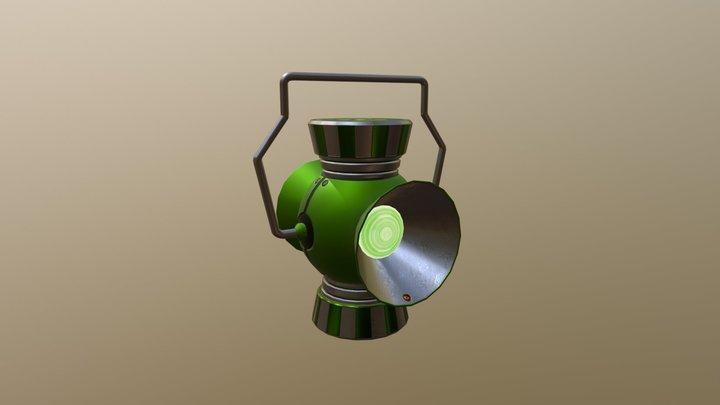 Green Lantern Power Battery 3D Model