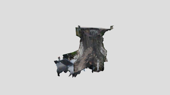 Effondrement du coteau du donjon (Montbazon) 3D Model
