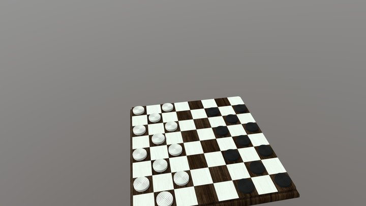 Checkers/Shess 3D Model
