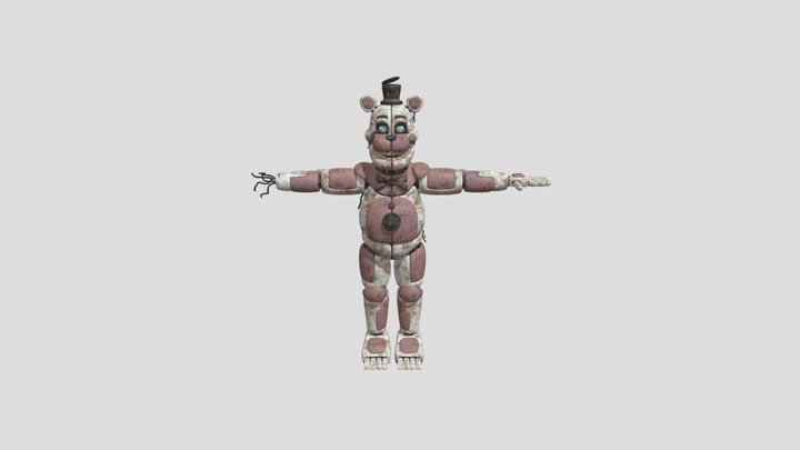 CTW funtime  Freddy v2 by E.Breddy 3D Model