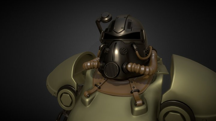 Power Armor from Fallout. Model T51 3D Model