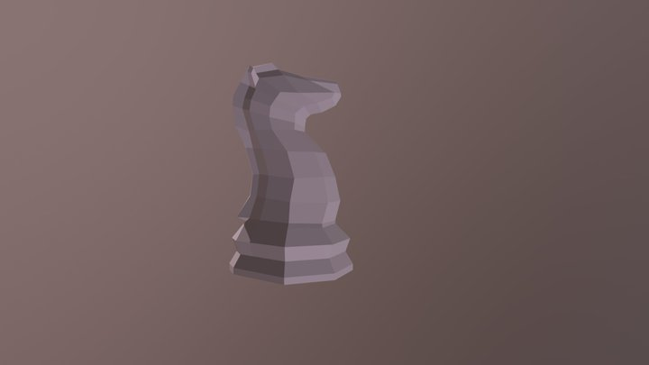 Low Poly Chess Knight 3D Model