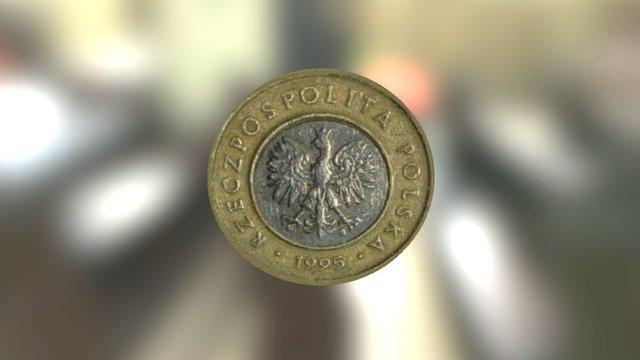 Modern Polish coin 3D Model