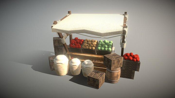 Medieval Shop set Modeling 3D Model