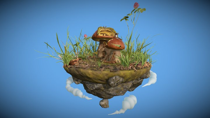 Ale's floating island 3D Model