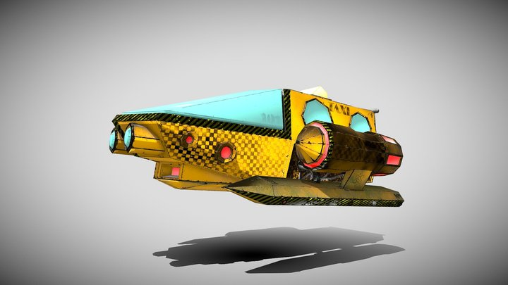 Space Taxi (Rigged, with Animation) 3D Model