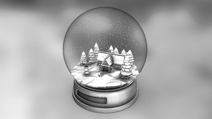 Snowglobe - Day 11 #3DInktober2019-Snow 3D Model