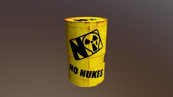 NO Nuclear Waste Barrel 3D Model