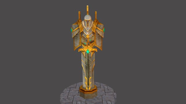 Forgotten Warrior 3D Model