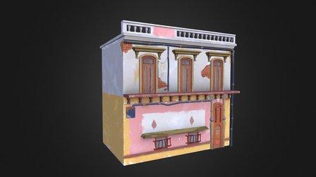 Pink Building 3D Model