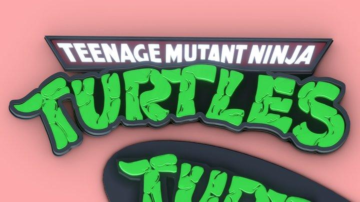 Teenage Mutant Ninja Turtles Logo Printable 3D Model
