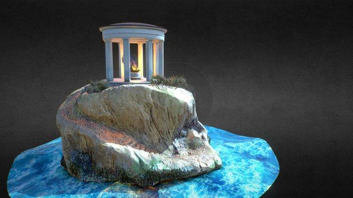 Mysterious rotunda at Krestovsky Island 3D Model