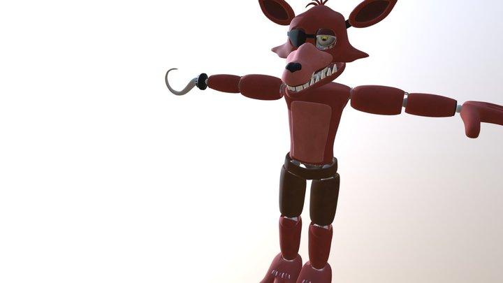 Unwithered Foxy By Coolioart FBX 3D Model