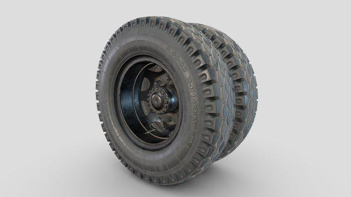 3d model-Car wheel  ZIL-164 3D Model