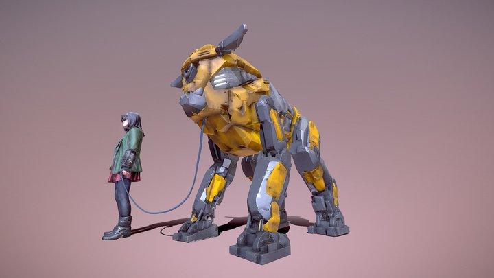 Beware of Dog 3D Model