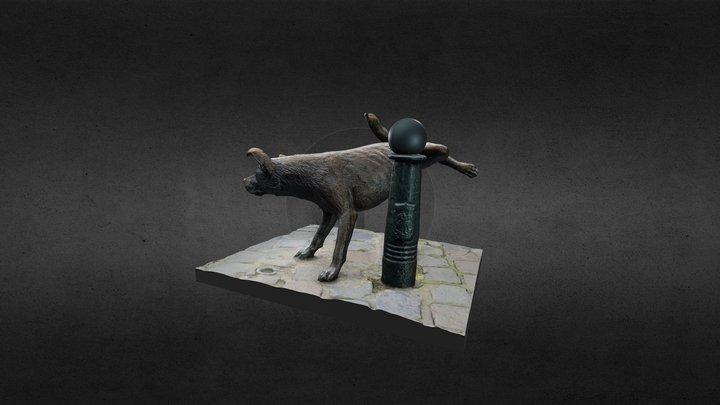 Het Zinneke  statue Brussels 3D Model