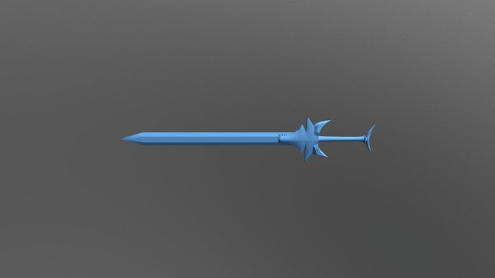 Wolf Sword 3D Model