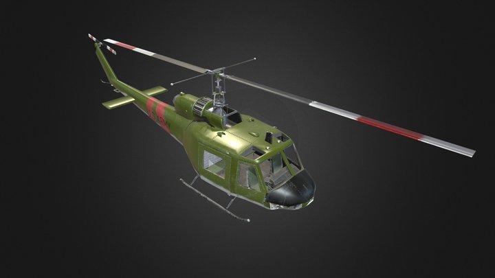 UH-1B with (half modeled cockpit) 3D Model