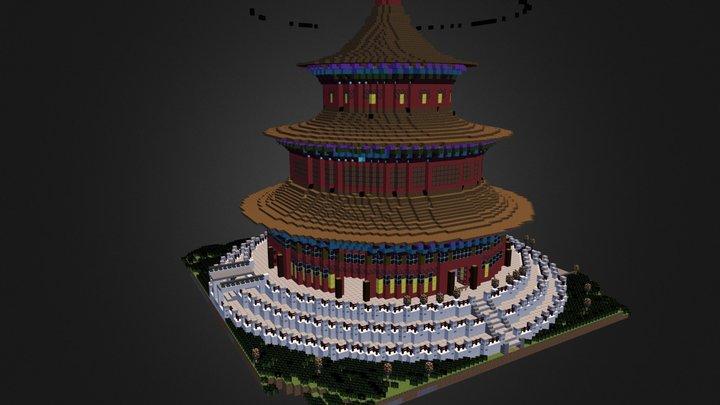 Beijing Temple 3D Model