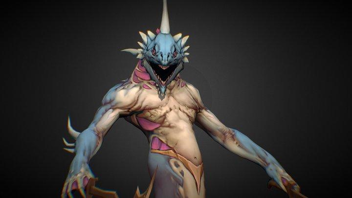 Naga Melee 3D Model