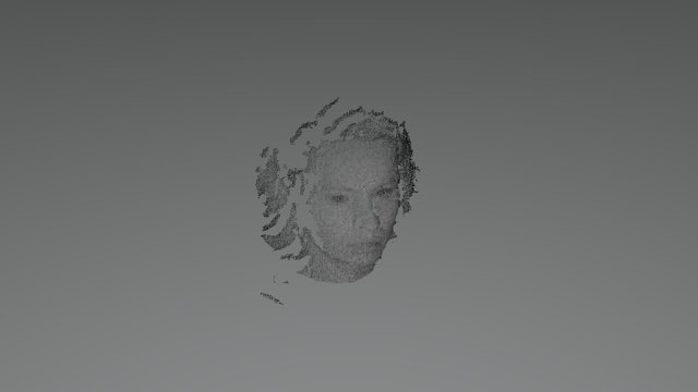 Face image restored from a single frame 3D Model