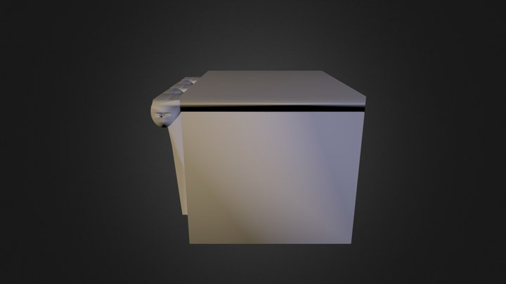 Box With Lid And Hinge 3D Model