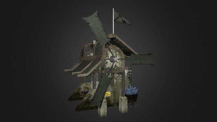Blue Stone Miner 3D Model