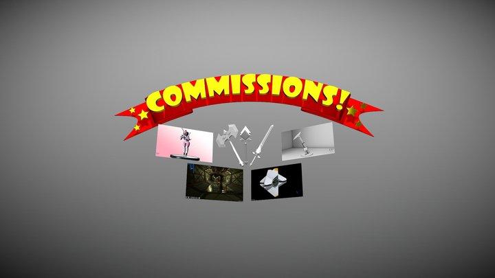 Commission Banner 3D Model