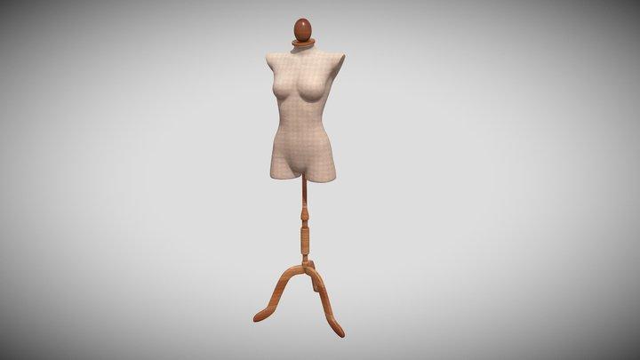 G2F Dress Mannequin 3D Model
