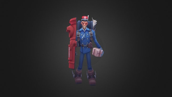 Postman Singed 3D Model