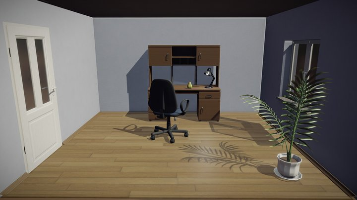 Stylised Room 3D Model