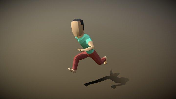 Lowpoly Villager Male 3D Model