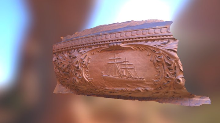 Stone Carving in New York State Capitol 3D Model