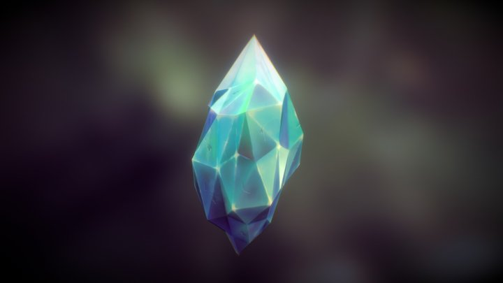 Handpainted Crystal 3D Model