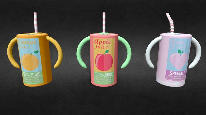 Mary's Magical Adventure - Juice Cylinders 3D Model