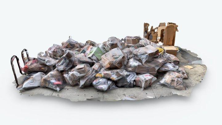 Trash pile in NYC 3D Model