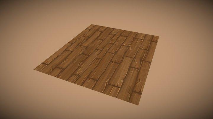 Proptober Day 9: Hand Painted Wood Floor 3D Model